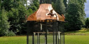 Putnu paviljons - gatavs atklāšanai